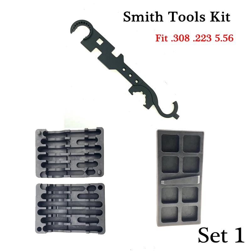 M4 M16 Ar15 Gun Smith Tools Kit Rifle Gun Repair Smithing Tool Vise Block Maintenance .308 .223 5.56 Vise Block Rifle Tool Kit