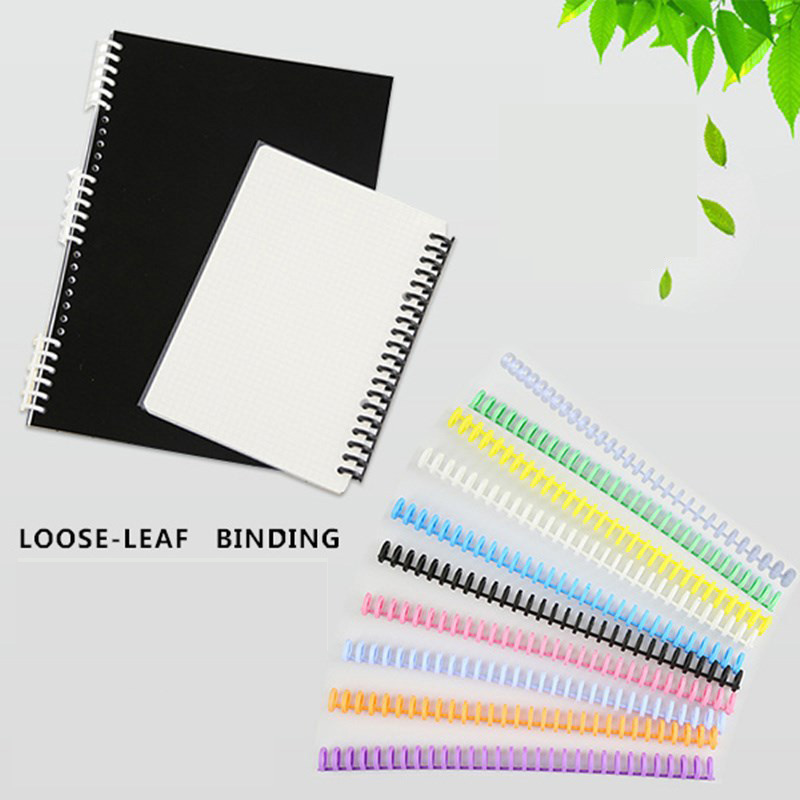 10pcs 16mm A4/A5/B6/A7 Binding Rings 30 Hole Loose-leaf Binding Strip Plastic Loose-leaf Ring Binding Clip Loose-leaf Buckle