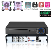 AI Face Detection Face recognition fetching AHD Network DVR Video Recorder 8CH H.265+ Real 5MP DVR NVR IP Camera Security kit