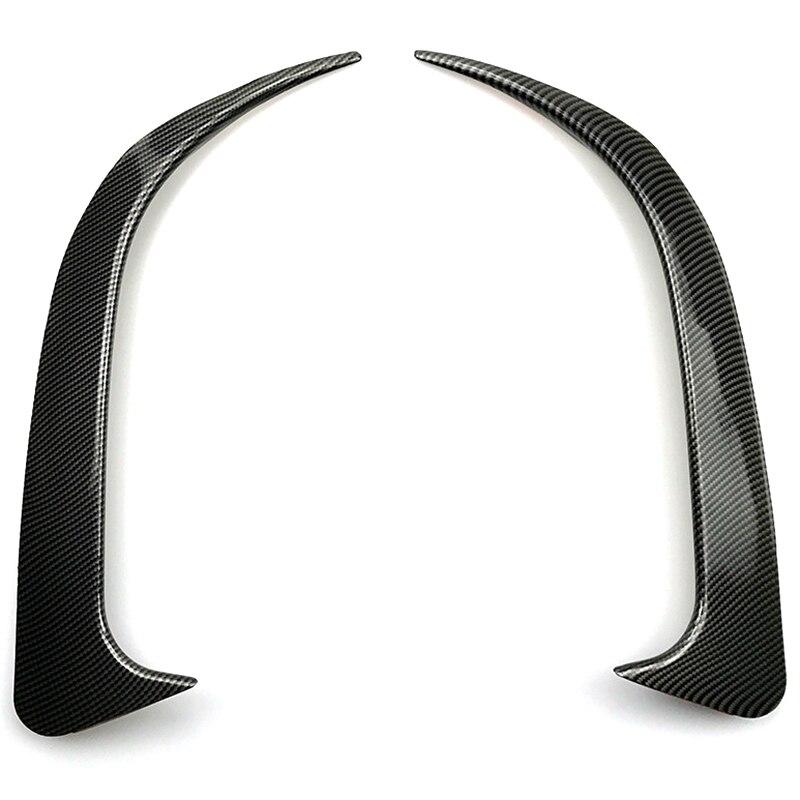 For Benz Cla W117 Cla45 Amg Carbon Fiber Look Rear Bumper Spoiler Air Vent Cover 2013-2018 2Pcs
