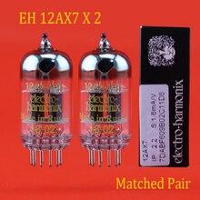 ใหม่ 2pcs รัสเซีย Electro Harmonix EH 12AX7 สูญญากาศคู่จับคู่อุปกรณ์เสริม Repalce Psvane Mullard JJ shuguang 12AX7/ 6N4