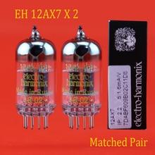 חדש 2pcs רוסיה אלקטרו Harmonix EH 12AX7 אבק תואם אביזרי Repalce Psvane Mullard JJ shuguang 12AX7/ 6N4