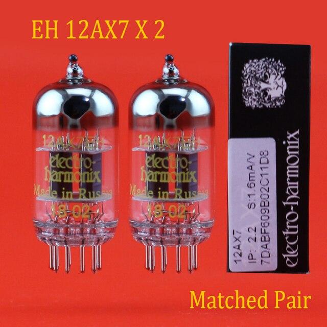 New 2pcs Russia Electro Harmonix  EH 12AX7 Vacuum Tube Matched Pair accessories Repalce Psvane Mullard JJ shuguang 12AX7/6N4