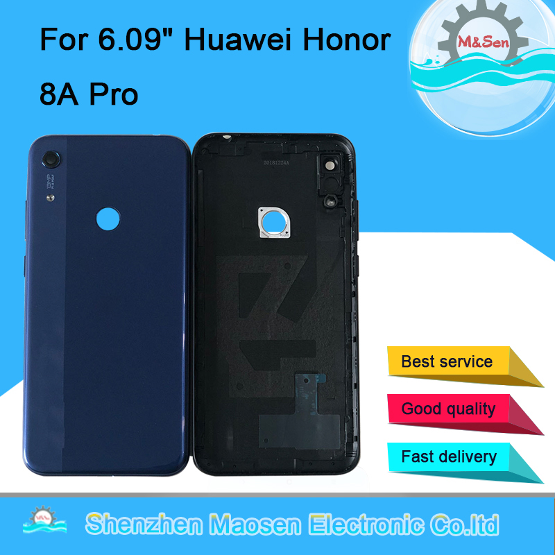 "Original M&Sen For 6.09""Huawei Honor 8A Pro JAT-L41 JAT-LX1 Rear Back Battery Cover +Camera Glass Lens Flash tools"