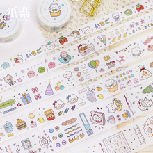 6PCS/LOT diary of a bear series special oil decorative paper tapes masking tape washi tape