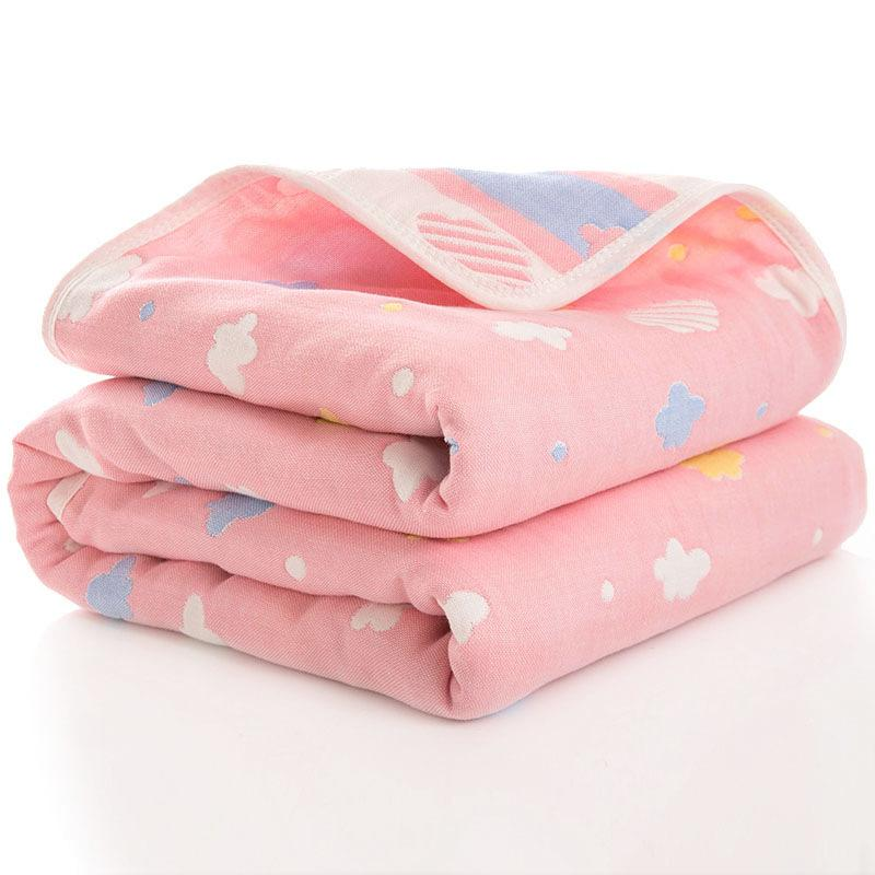 Size 80*80cm Cotton Six-layer Gauze Baby Quilt Soft Newborn Blanket Cover Quilt Baby Four Seasons Blankets Dropshipping