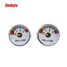 كرة الطلاء PCP قياس ضغط الهواء 2 قطعة 3500psi مقياس الضغط الصغير 1/8bsp المواضيع
