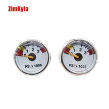 Paintball PCP Air Manometer 2 stücke 3500psi Mini Micro Manometer Manometer 1/8bsp themen