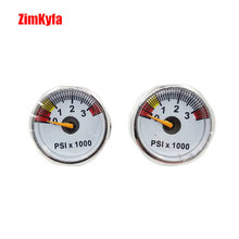 Paintball PCP Air Pressure Gauge 2pcs 3500psi Mini Micro Manometre Manometer 1/8bsp threads