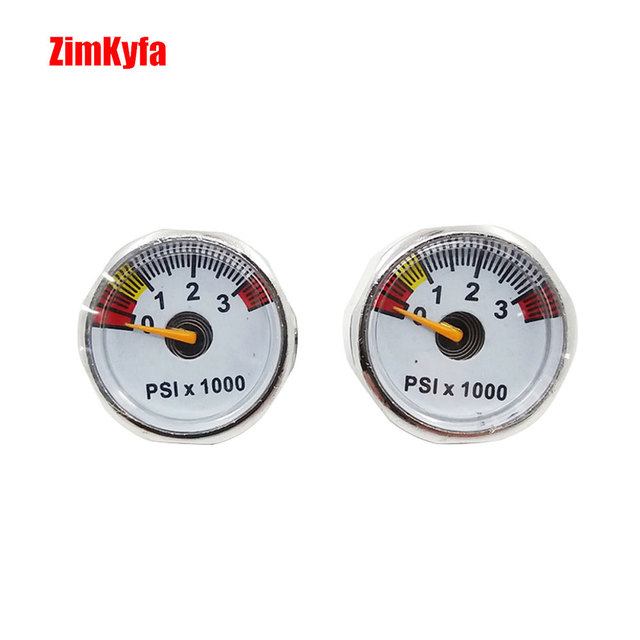Paintball PCP Air Pressure Gauge 2pcs 3500psi Mini Micro Manometre Manometer 1/8bsp threads