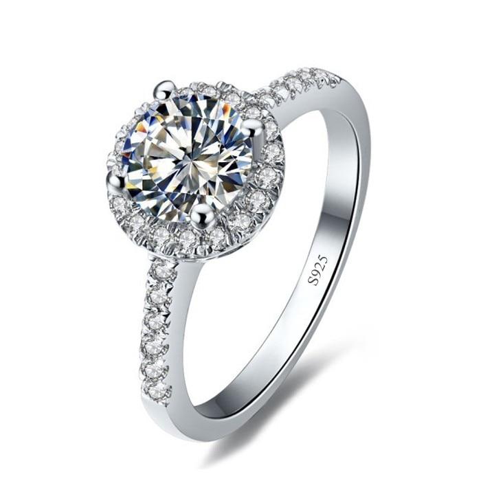 90% de réduction amoureux Lab diamant promesse bague 925 en argent Sterling fiançailles bague de mariage anneaux pour femmes hommes Fine fête bijoux cadeau 5