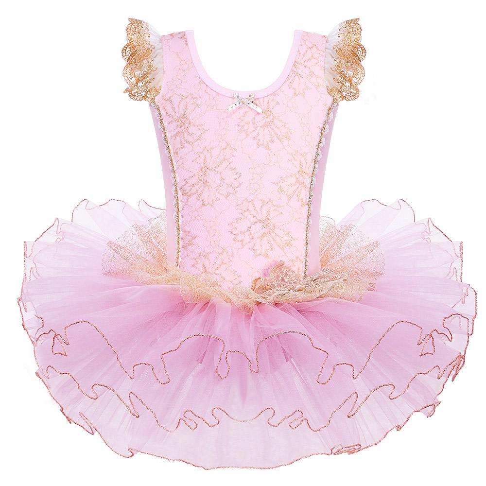 BAOHULU Pink Cotton Ballet Dress Girls Children Ballet Tutu Ballerina Dancing Clothes Kids Dance Wear