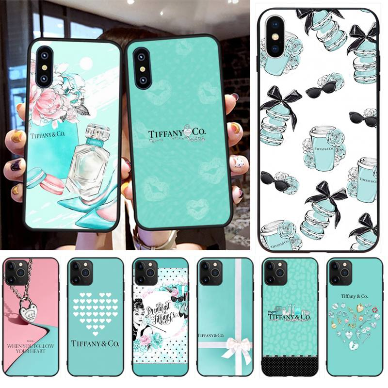 HPCHCJHM luxury Blue Box <font><b>sexy</b></font> <font><b>Girl</b></font> Black TPU Soft Rubber Phone Cover for <font><b>iPhone</b></font> 11 pro XS MAX 8 <font><b>7</b></font> 6 6S Plus X 5S SE 2020 XR <font><b>case</b></font> image