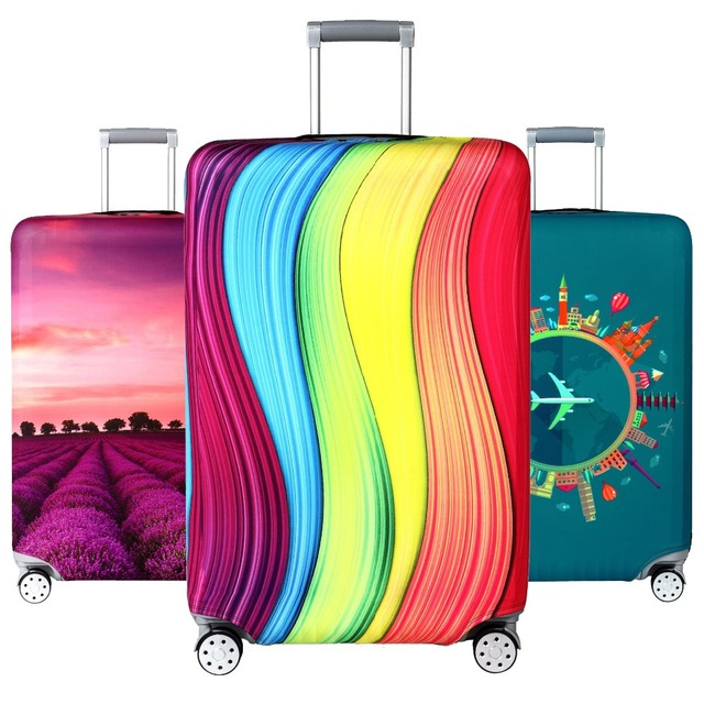Elastic Travel Luggage Cover Dustproof Protective Travel Suitcase Cover For 18 32 Inch Trolley Bag Case Luggage Accessories