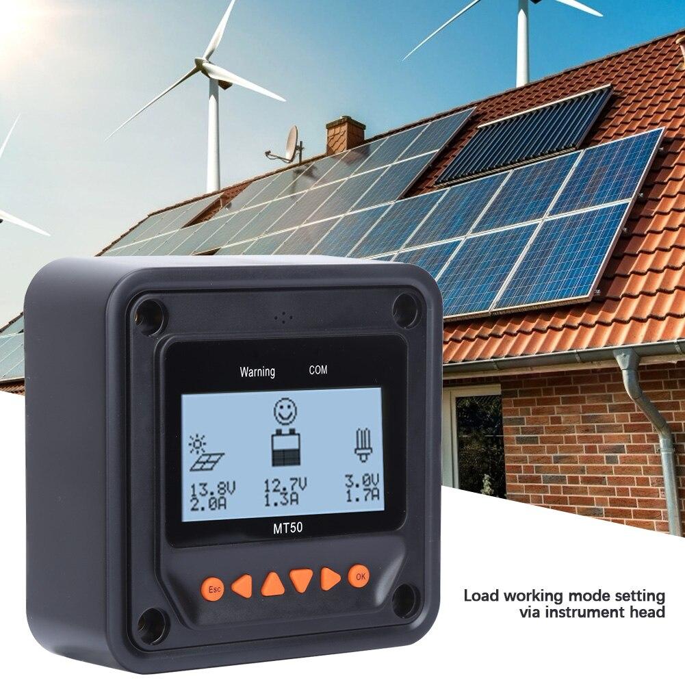 lcd medidor carga solar controlador