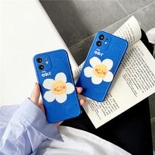 Sevimli gülen çiçek telefon kılıfı için iPhone 12 mini 11 Pro Max 7 8 artı SE 2020 X XR XS max Funda moda silikon yumuşak kapak Coque