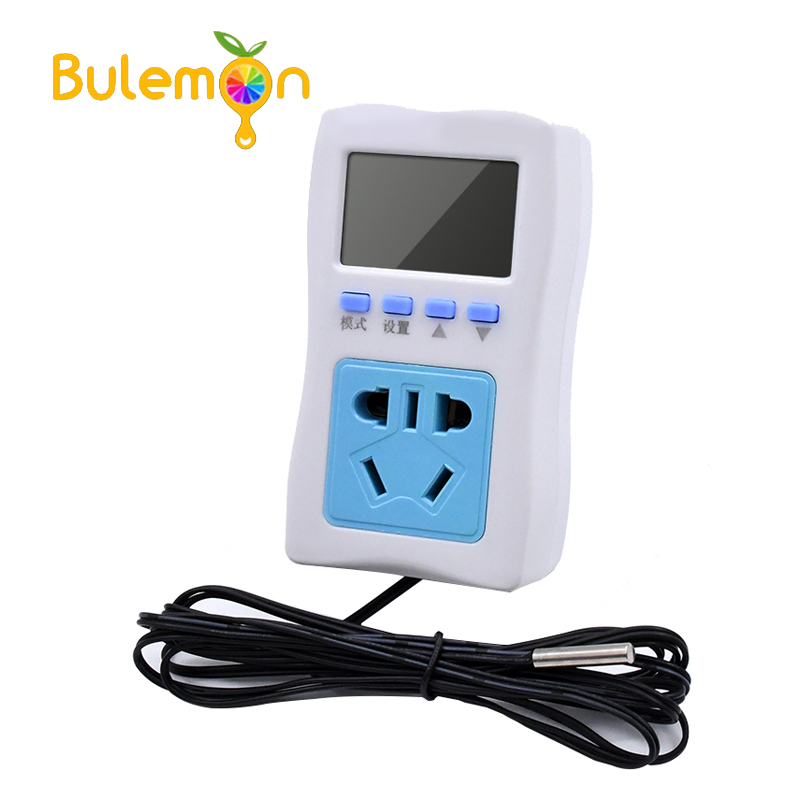 XH-W2300 Digital Thermostat LCD Cycle Timing Intermittent Temperature Controller Socket High Precision 0.1