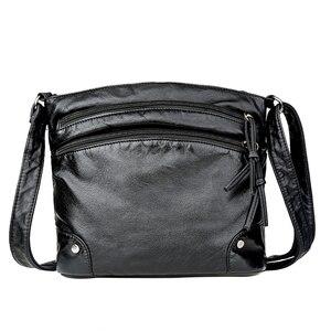 Image 2 - Bolso de hombro de piel suave para mujer, bandolera de diseñador, de uso diario, color negro, 2020