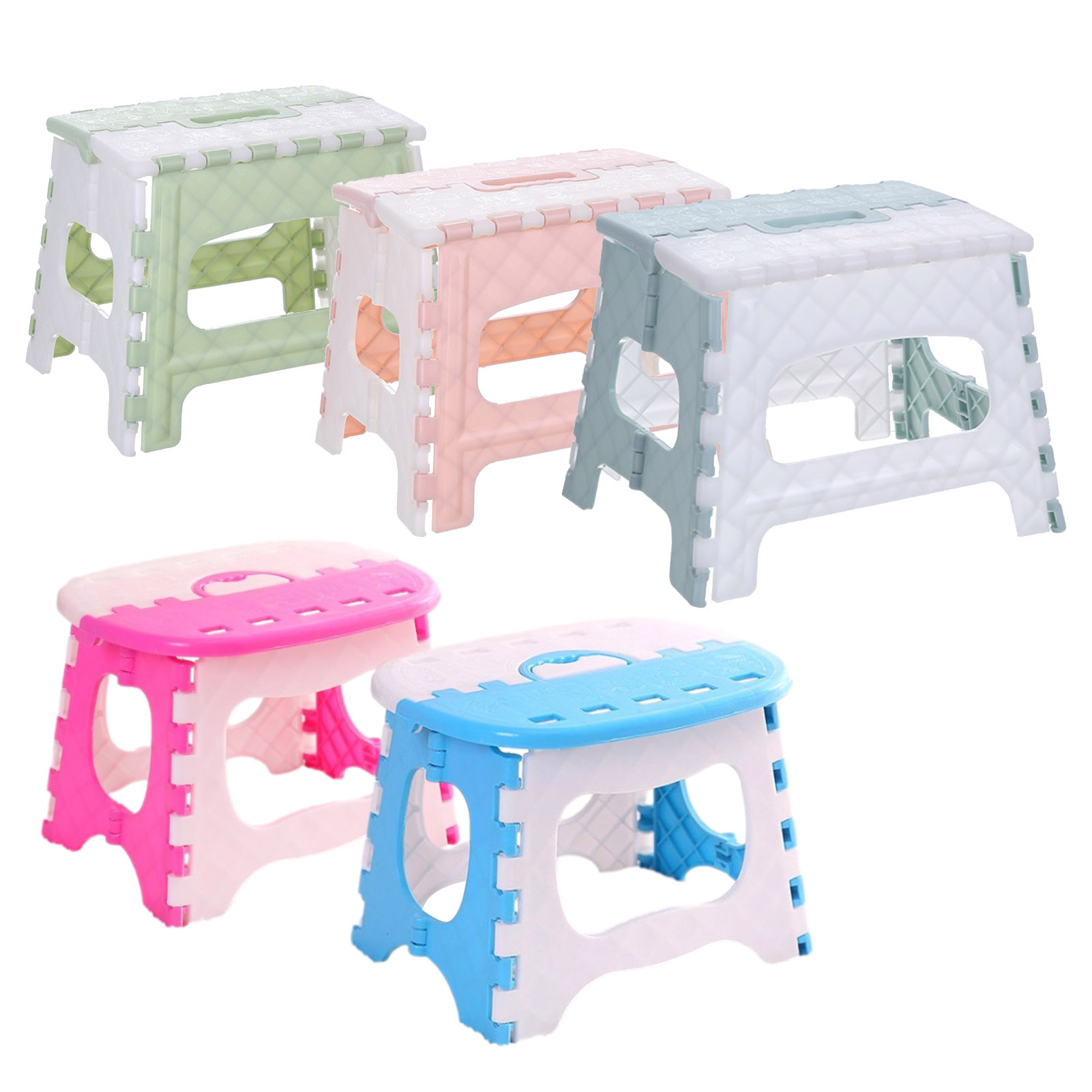 Folding Stools Multi-functional Portable PP Chairs Durable Foldable Space Saving Light Weight for Kids Adults 5 Colors