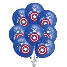 Мстители Капитан Америка щит герой Железный человек латексных воздушных шаров с баннеры на день рождения вечерние украшения Baby Shower Globos