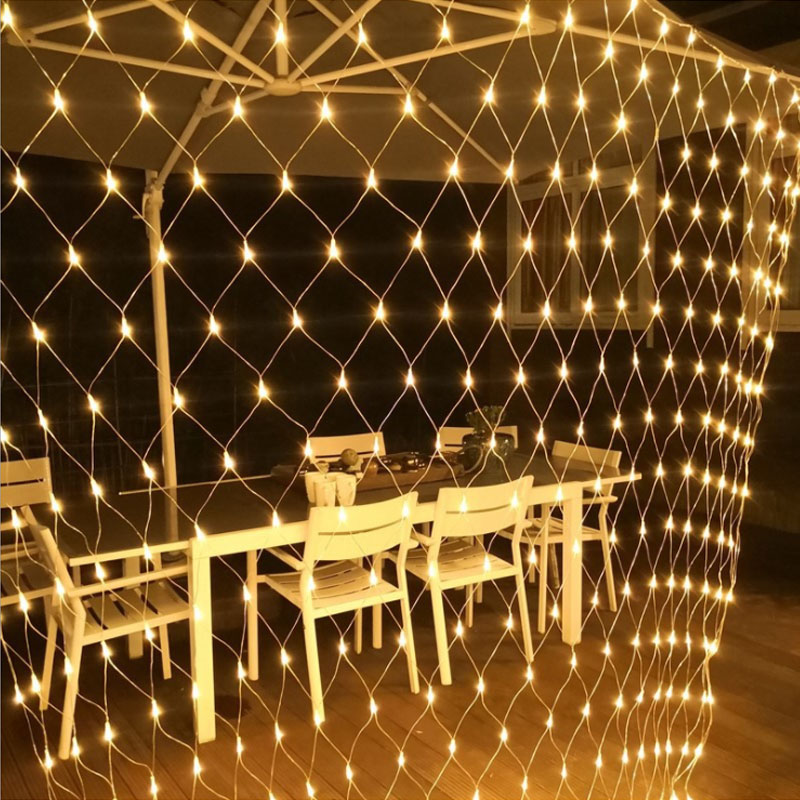1.5MX1.5M 3x2M 4x6M Christmas Garlands LED String Christmas Net Lights Fairy Xmas Party Garden Wedding Decoration Curtain Lights