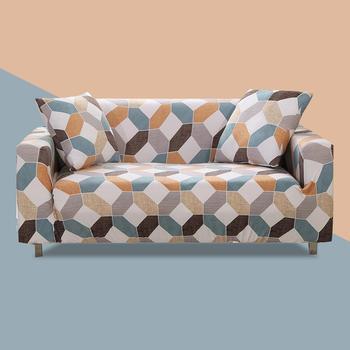 Her şey dahil esnek kanepe kılıfı oturma odası için elastik streç Modern geometrik baskı kanepe kılıfı Slipcovers cubre kanepe