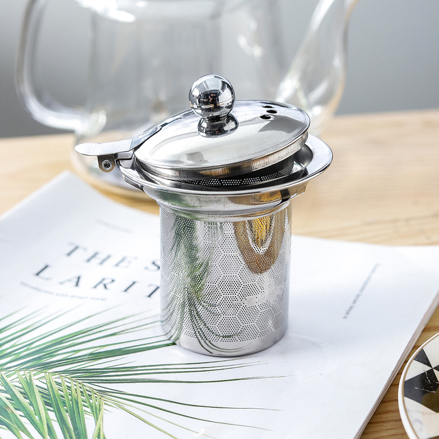 1L Glass Teapot Stainless Steel Filter  6
