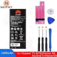 Batería Original HB4342A1RBC para Huawei honor 4A honor 5A LYO-L21 Y5II Y5 II Ascend 5 + Y6 SCL-TL00 CUN-U29 2200mAh teléfono móvil