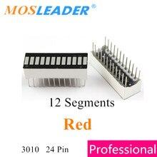 Mosleader 100PCS 12 Segment display Rosso 3010 12 Segmenti di B12 DIP24 24P Anodo Grafico A Barre LED grafico a barre di luce display digitale