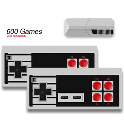 Wireless Handheld Game Player Build In 600 Classic Games Support TV OutPut Game Console With Dual Gamepad