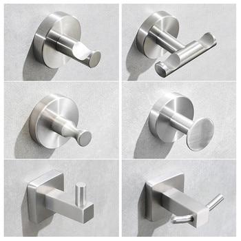 Stainless Steel Wall Hook For Bathroom Kitchen Coat Hook Towel Hooks For Shower Circle SUS304 Cloth Hook Bathroom Hanger