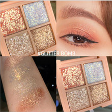 4/12 Warna Nude Bersinar Eyeshadow Mutiara Makeup Glitter Pigmen Smoky Eye Shadow Pallet Tahan Air Kosmetik Eye Shadow(China)