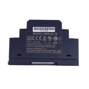 Image 3 - Original Mean Well HDR 30 12 DC 12V 2A 24W meanwell Ultra Slim Step Shape DIN Rail Power Supply