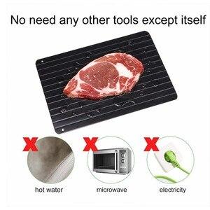 Image 5 - Hızlı buz çözme tepsisi tepsisi dakikalarda dondurulmuş gıdalar et meyve hızlı Defrost plaka levha Defrost mutfak Gadget aracı