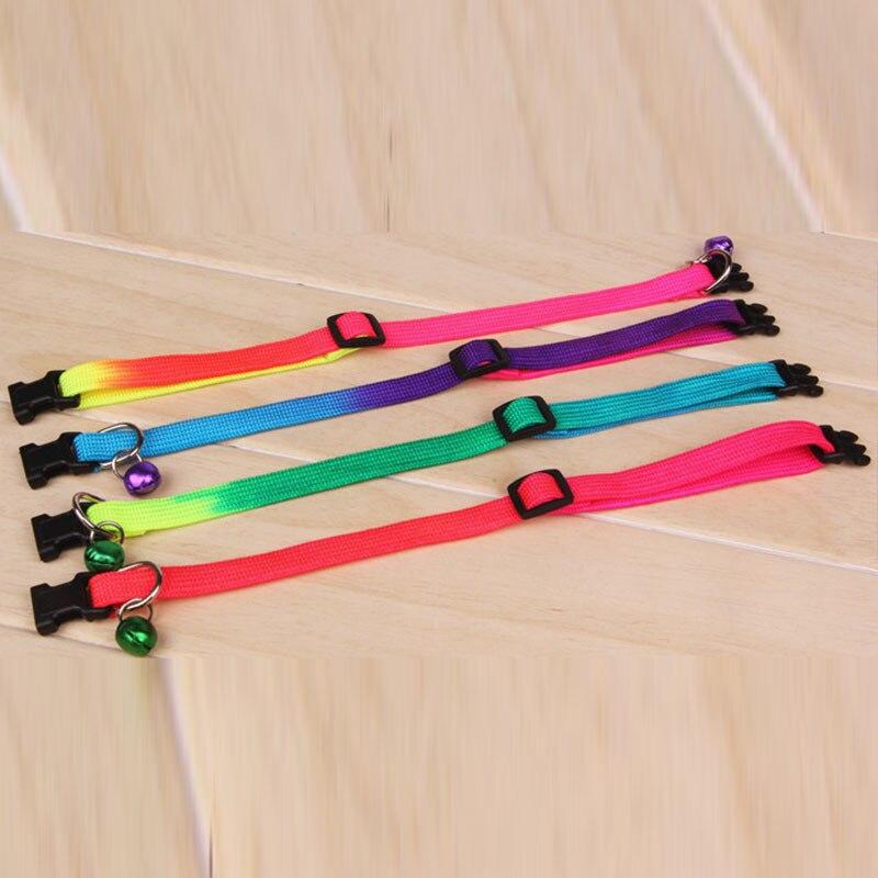 1 шт. ошейник для питомца собаки кошки цветной Регулируемый ошейник колокольчик 1,0 см ошейник для собаки поставка для питомца инструменты для питомца ошейник для собаки