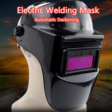 Mask Headband Welding-Helmets Protective Grinding Darkening Li-Battery Auto Solar Sparkproof