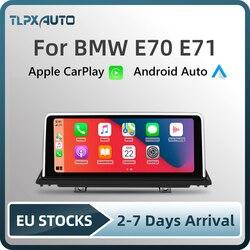 Беспроводная система Apple CarPlay Android авто мультимедиа для BMW X5/X6 E70 E71(2007-2014) головное устройство тыловая камера IOS IPhone