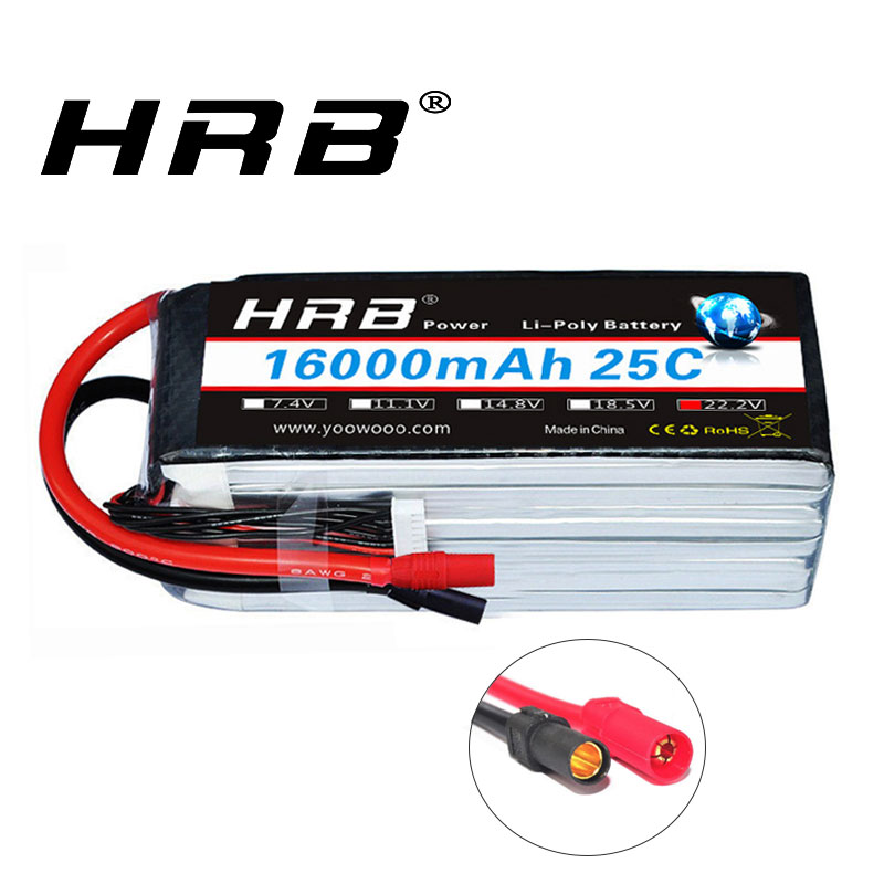 RC Lipo <font><b>Battery</b></font> 6S 22.2V <font><b>16000mAh</b></font> 25C XT150 Connector Electric bike 48v 16ah <font><b>Battery</b></font> For RC Car Airplane helicopter Tank Toy image