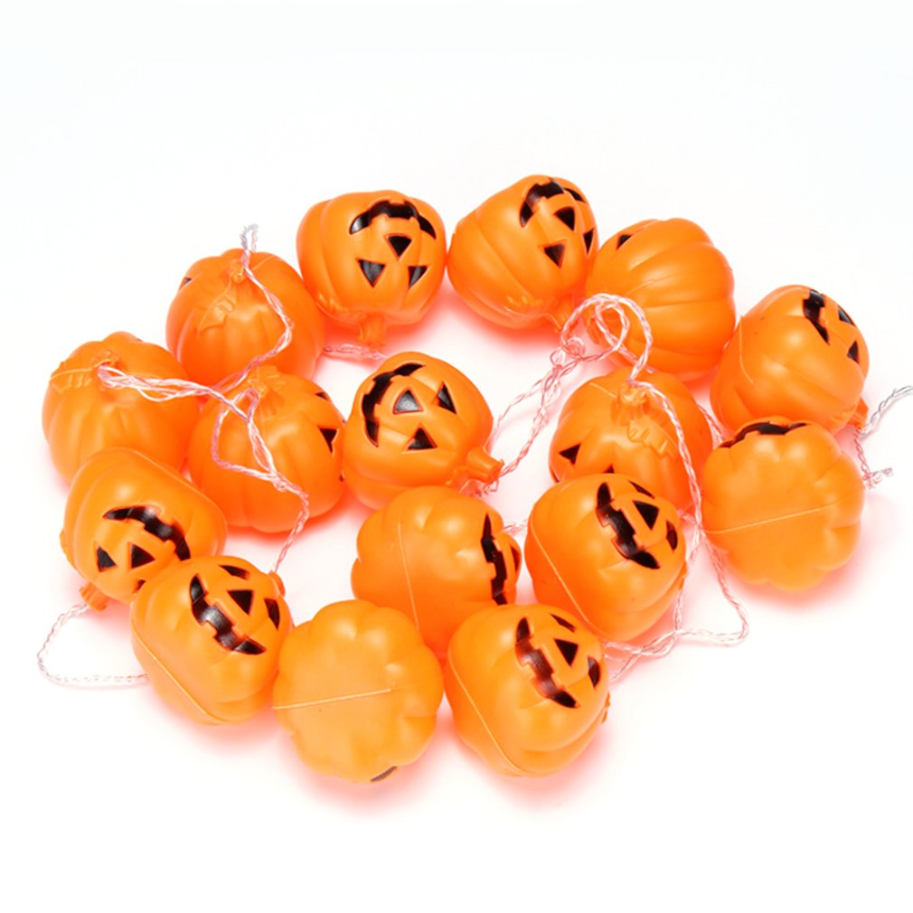 Jack-o-lanterns Pumpkin Battery Operated For Halloween Party Christmas Decoration Waterproof LED String Lights Flashlight