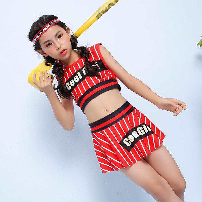 2018 Xiqi KID'S Swimwear Popular Brand GIRL'S Swimsuit Big Boy Sporty Split Skirt Tour Bathing Suit A Generation Of Fat