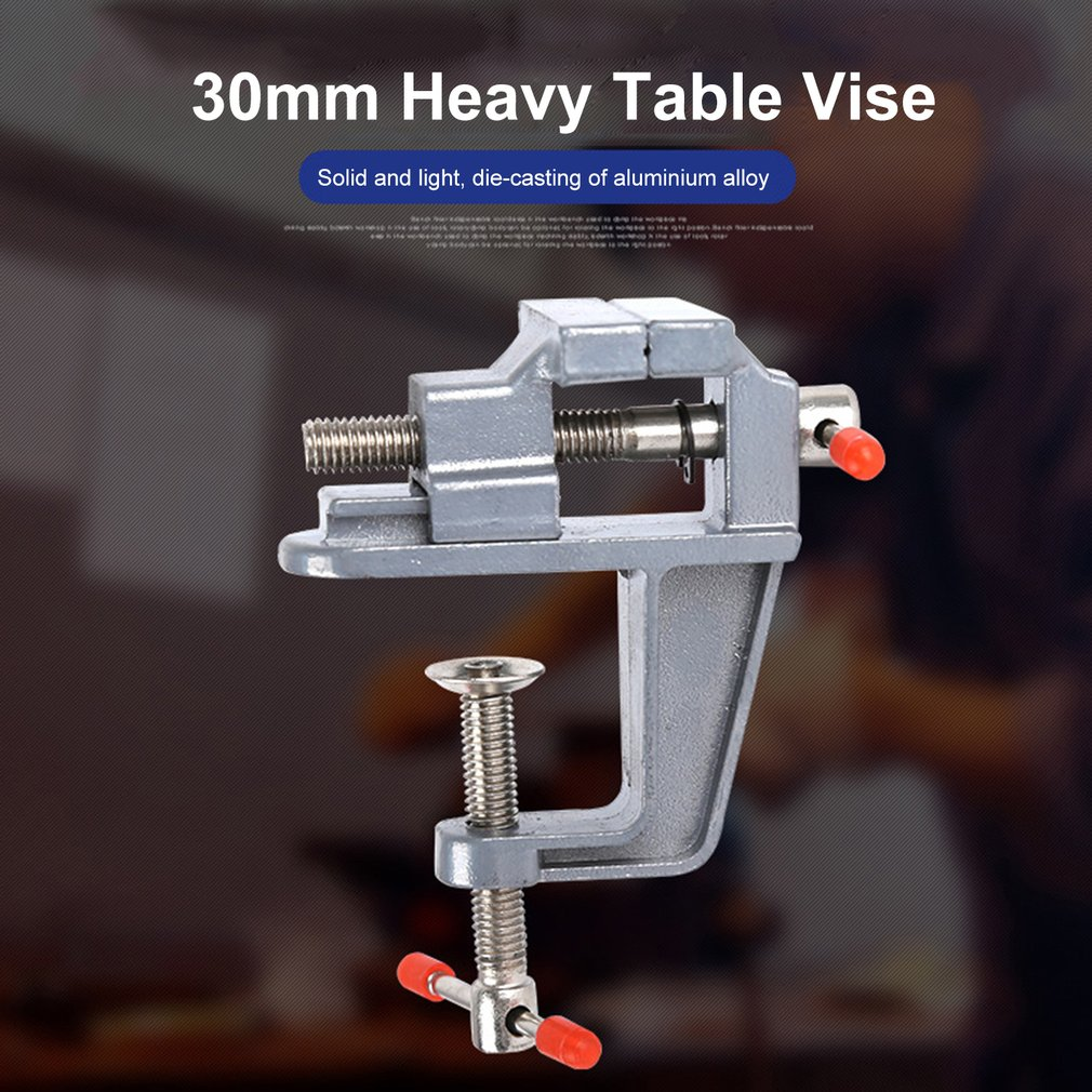 35MM Aluminium Alloy Table Bench Clamp Vise Mini Bench Vise Table Screw Vise For DIY Craft Mold Fixed Repair Tool