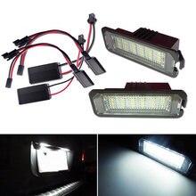 2 шт светильник в 18xled подсветка номерного знака для vw golf
