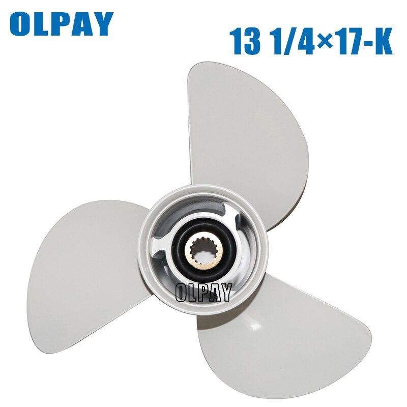 6E5-45945-01-EL-00  13 1/4x17-K Aluminum Alloy Propeller For Yamaha 75HP 85HP 90HP 115HP Boat Engine