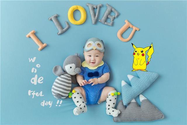 Newborn Studio Shooting Photo Prop 100 Days Photo Frame Costume Photo Background Prop Creative DIY Theme Photographic Clothing 4