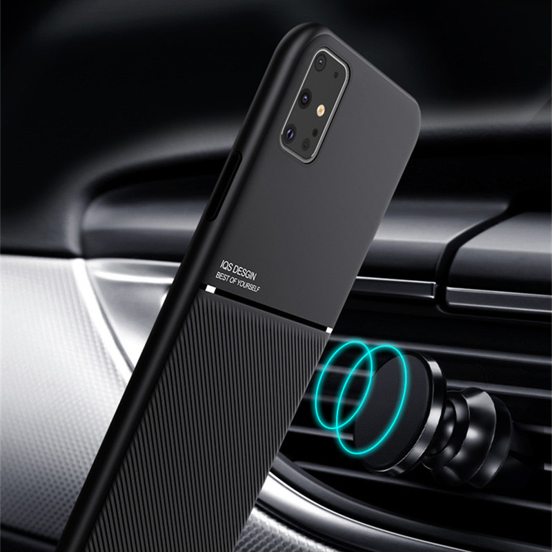 Slim Matte Leather Case For Samsung Galaxy S20 Ultra Plus S10 S9 S8 S10E Case A71 A51 A10 A20 A30 A50 A70 Car Holder Cover Cases