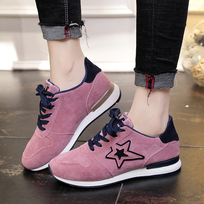 New Women's Sneakers Women Vulcanize Shoes Casual Breathable Shoes Female Soft Leather Flats Ladies Sneakers Zapatos De Mujer