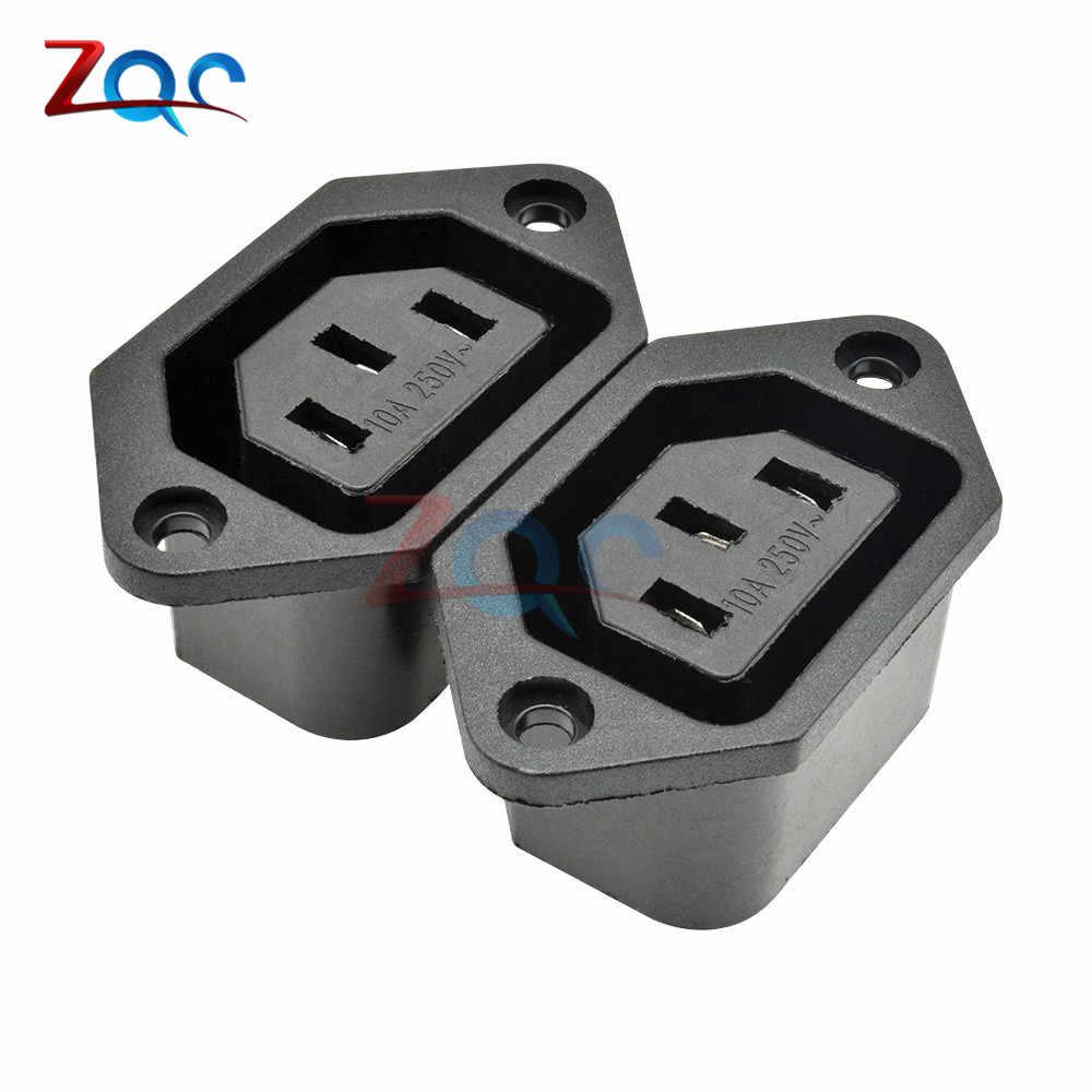 Chassis Weibliche 15A/250V 3PIN 05231 AC IEC C13 C14 Inline Buchse Stecker Adapter Netz Power Stecker Power versorgung Ausgang Outlet