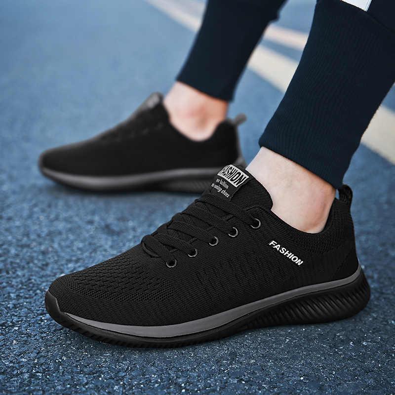 Männer Marke Casual Schuhe Atmungsaktiv Weiche Turnschuhe Hohe Qualität Mesh Sommer Fliegen Stoff Casual Schuhe Krasovki Zapatos Hombre