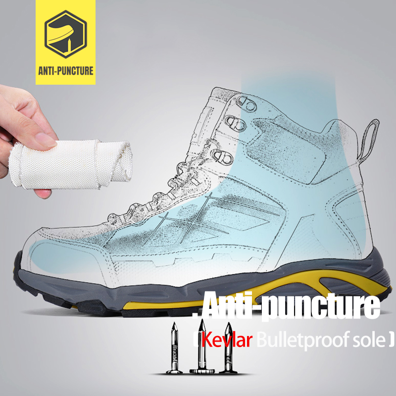 Image 3 - LARNMERN Mens Steel Toe Work Safety Shoes Lightweight Breathable Anti smashing Anti puncture Anti static Protective Boots-in Work & Safety Boots from Shoes