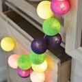 QYJSD nueva guirnalda de algodón bolas batería USB Navidad boda niños cama decoración cumpleaños fiesta LED cadena luces regalos de hadas